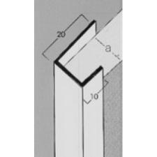 GIPSZKARTONHOZ PVC ÉLVÉDŐ J PROFIL 12.5 mm 3m élvédő, sín, szegélyelem