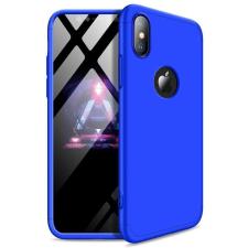 GKK 360 Protection telefontok hátlap tok Első és hátsó tok telefontok hátlap az egész testet fedő iPhone XS Max kék (logo lyuk) tok és táska