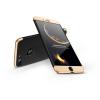 GKK Apple iPhone 8 Plus hátlap - GKK 360 Full Protection 3in1 - Logo - fekete/arany
