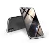 GKK Apple iPhone X/XS hátlap - GKK 360 Full Protection 3in1 - fekete/ezüst