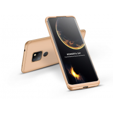GKK Huawei Mate 20 hátlap - GKK 360 Full Protection 3in1 - arany tok és táska