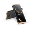 GKK Huawei Mate 20 hátlap - GKK 360 Full Protection 3in1 - fekete/arany