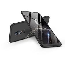 GKK OnePlus 6 (A6000) hátlap - GKK 360 Full Protection 3in1 - fekete tok és táska