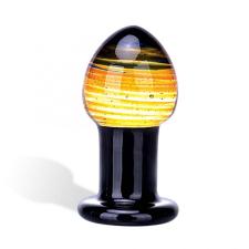 Glas GLAS Galileo - üveg anál dildó (fekete-arany) anál