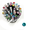 ". Golyóstoll, Crystals from SWAROVSKI®, fekete, 14cm""Elegante"", türkiz kristállyal"
