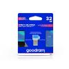 Goodram 32 GB OTG Flash Drive pendrive USB Type-A + USB Type-C csatlakozóval - Goodram ODD3 USB 3.0 - kék