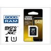 Goodram 64 GB microSDXC™ UHS-1 Class 10 memóriakártya + SD adapter