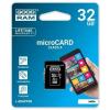 Goodram microSDHC 32GB Class 4 memóriakártya SD adapterrel Artisjus matricával - M40A-0320R11
