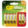 GP BATTERIES GP 15AU 1,5V AA LR6 Ultra alkáli elem 4 + 2 db