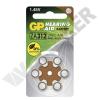 GP BATTERIES ZA312 / PR41 GP Cink-levegő hallókészülék elem 125mAh 7,9*3,6mm