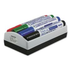 Granit Táblamarker készlet, 2-3 mm, kúpos, tolltartóval, GRANIT  M460 , 4 különböző szín + táblatörlő tolltartó