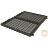 Great Lakes 7206-FR-A30HD 762 mm mély fix polc rack szekrénybe, 1U, állítható szerelőfülekkel, fekete (68kg-ig)