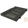 Great Lakes 7206-FRSL-AHD 559mm mély polc rack szekrénybe, 2U, kihúzható, csúszkás, fekete (50kg-ig)