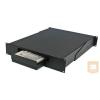 Great Lakes 7206-MKM kihúzható tálca rack szekrénybe, 2U, billentyűzet és monitor tartó, egérpad, elfordítható (91 kg-ig)