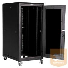 """Great Lakes GL24E-6080G-BL 24U 600 x 800 19""""-os álló rack szekrény szerver"""