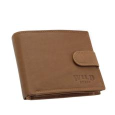 GREEN DEED Wild Best sarok logós, világos barna, patentos nyelvű pénztárca SWB6002L/T