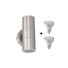 Grundig 07531 - LED Kültéri fali lámpa 2xGU10/4W/230V IP44 kültéri világítás