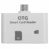 GT Adapter microUSB kártyaolvasó (SD/microSD) OTG Smart (fehér)