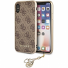 Guess Charms 4G tok iPhone X - barna