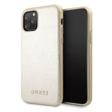 Guess Etui Guess GUHCN58IGLGO iPhone 11 Pro arany kemény tok Színjátszó telefontok tok és táska