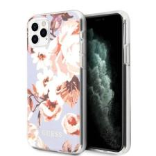 Guess GUHCN65IMLFL02 iPhone 11 Pro Max lila N ° 2 Flower Collection telefontok tok és táska