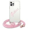 """Guess GUHCP12LCRTVSPI iPhone 12 Pro Max 6,7"""" rózsaszín tok Script Vintage telefontok"""