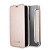 Guess iPhone X Iridescent oldalra nyíló tok, rose gold