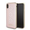 Guess iPhone X Studs and Sparlkes Snow Flakes hátlap, tok, rózsaszín