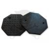 Gumipogácsa csápos emelőhöz nyolcszögletű fekete 125 mm-es Giuliano (GI3994498)