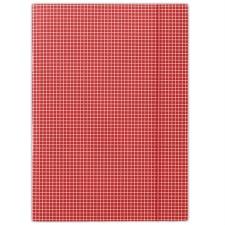 GUMIS mappa, karton, A4, kockás, DONAU, piros mappa