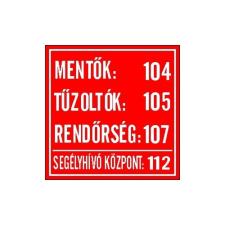 """GUNGL DEKOR MATRICA MENTŐ TŰZOLTÓ HÍVÓSZÁMOK PIROS """"B"""" információs címke"""