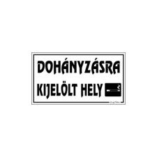 GUNGL DEKOR PIKTOGRAM DOHÁNYZÁSRA KIJELÖLT HELY FEHÉR információs címke
