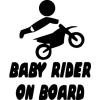 Gungldekor Baby rider on board motoros gyerek 2 db plottervágott autós matrica applikáló fóliával
