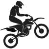 Gungldekor Motocross ugratás 2 db plottervágott autós matrica applikáló fóliával