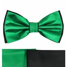 Gyerek szatén csokornyakkendõ - Fekete-zöld