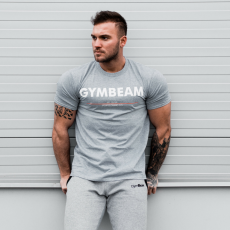 GymBeam Clear Grey White póló - GymBeam XXL