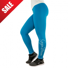 GymBeam Női leggings Vertical Blue White - GymBeam M