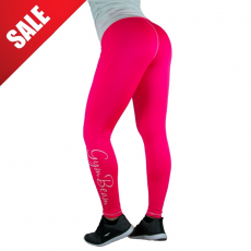 GymBeam Női leggings Vertical Pink White - GymBeam M
