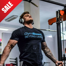 GymBeam Póló Beyond Limits Black Sky Blue - GymBeam M