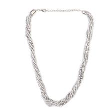 Gyöngytekercs nyaklánc, ezüst nyaklánc