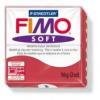 Gyurma, 56 g, égethető, FIMO Soft, meggy piros