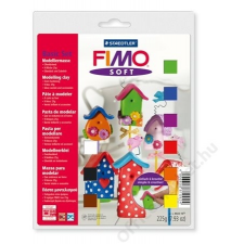 Gyurma készlet, 9x25 g, égethető, FIMO Soft Basic, vegyes színek (FM802310) gyurma