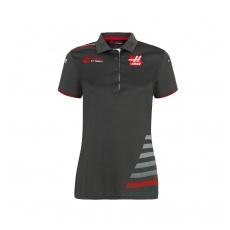 Haas F1 Team női gallĂŠros póló grey 2018 - XXL