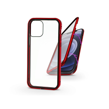 Haffner Apple iPhone 12 Mini mágneses, 2 részes hátlap előlapi üveggel - Magneto 360 - piros mobiltelefon kellék
