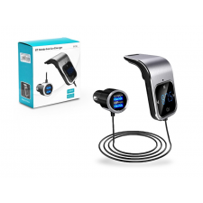 Haffner BCFM-39 FM-transmitter - Bluetooth + memóriakártya olvasó + 2xUSB autós töltő - 3,4A - fekete/ezüst memóriakártya