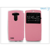 Haffner LG G4 H815 S-View Flexi oldalra nyíló flipes tok - pink