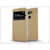 Haffner LG G5 H850 S-View Flexi oldalra nyíló flipes tok - gold