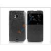 Haffner Microsoft Lumia 535 S-View Flexi oldalra nyíló flipes tok - fekete