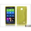 Haffner Nokia X/X+ szilikon hátlap - S-Line - sárga