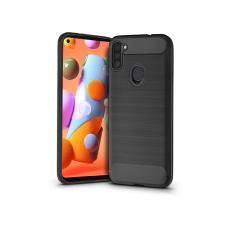 Haffner Samsung A115F Galaxy A11 szilikon hátlap - Carbon - fekete tok és táska